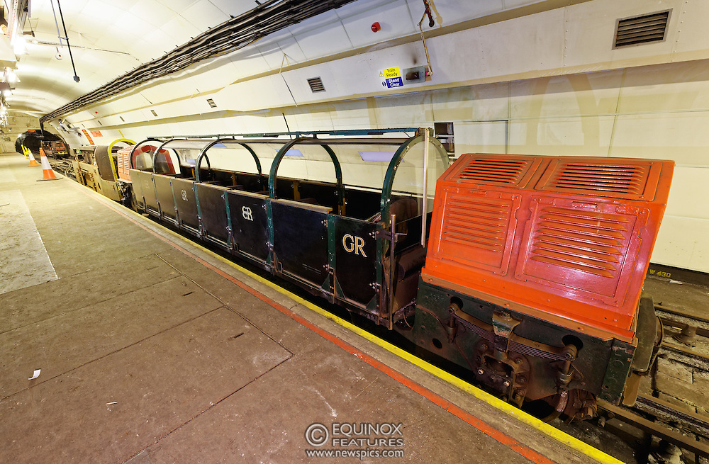 London, United Kingdom - 3 February 2016<br /> PICTURE EXCLUSIVE - The disused Mail Rail underground rail lines and station pictured beneath Mount Pleasant sorting office. Work has commenced on The Postal Museum which will open in 2017 and be located next to Mount Pleasant sorting office in Clerkenwell, London, England, UK. Visitors to the museum will be able to ride on a train on the famous Mail Rail underground rail line. The underground Mail Rail was used for mail distribution to avoid road congestion until 2003 when the lines were closed. Among the supporters of The Postal Museum are Royal Mail, Post Office and the Heritage Lottery Fund.<br /> (photo by: HAUSARTS / EQUINOXFEATURES.COM)<br /> Picture Data:<br /> Photographer: Equinox Features<br /> Copyright: ©2016 Equinox Licensing Ltd. +448700 780000<br /> Contact: Equinox Features<br /> Date Taken: 20160203<br /> Time Taken: 18305712<br /> www.newspics.com
