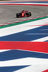 October 21, 2018 - Austin, TX, U.S. - AUSTIN, TX - OCTOBER 21: Ferrari driver Kimi Raikkonen (7) of Finland races through turn 18 during the F1 United States Grand Prix on October 21, 2018, at Circuit of the Americas in Austin, TX. (Photo by John Crouch/Icon Sportswire) (Credit Image: © John Crouch/Icon SMI via ZUMA Press)