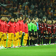 Galatasaray's and Gaziantepspor's players during their Turkish Superleague Galatasaray between Gaziantepspor at the TT arena in Istanbul Turkey on Wednesday 26 October 2011. Photo by TURKPIX