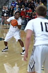 21 November 2016: Intercity Boys Basketball game at the Shirk Center, Bloomington, Illinois. Normal University High Pioneers and Normal Community West Wildcats