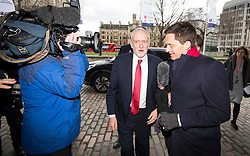 © Licensed to London News Pictures. 20/02/2018. London, UK. Labour party leader JEREMY CORBYN MP arrives at the QEII Conference Centre in London to make a speech at the EEF National Manufacturing Conference 2018. Photo credit: Ben Cawthra/LNP
