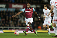 Michail Antonio of West Ham United in action. The Emirates FA cup, 4th round replay match, West Ham Utd v Liverpool at the Boleyn Ground, Upton Park  in London on Tuesday 9th February 2016.<br /> pic by John Patrick Fletcher, Andrew Orchard sports photography.