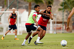 Korey Smith of Bristol City and Scott Golbourne - Mandatory by-line: Matt McNulty/JMP - 21/07/2017 - FOOTBALL - Tenerife Top Training Centre - Costa Adeje, Tenerife - Pre-Season Training