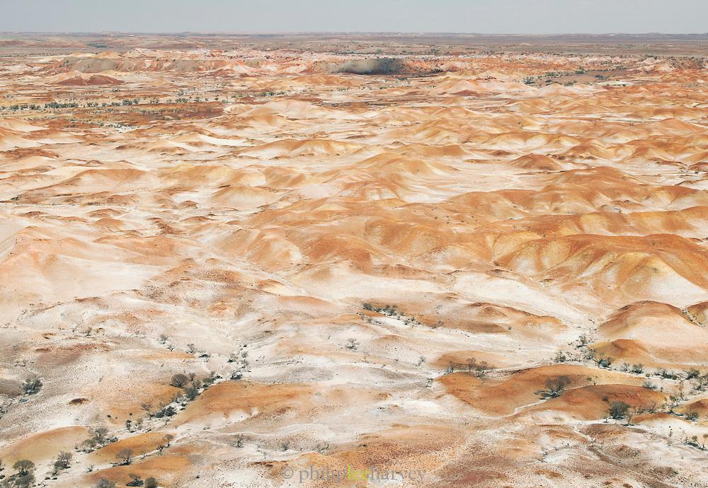 Aeral view of the Painted Desert, South Australia, Australia