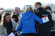 DE HOLLANDSE100 by LYMPH & CO op FlevOnice te Biddinghuizen. Een duatlon bestaande uit twee onderdelen: schaatsen en fietsen. Het evenement wordt georganiseerd om geld op te halen voor Lymph&Co dat zich inzet tegen lymfklierkanker.<br /> <br /> Op de foto: Prins Bernhard en Prinses Annette