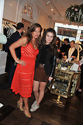 Left to right, JADE JAGGER and her daughter AMBA JACKSON at the Frocks and Rocks party hosted by Alice Temperley and Jade Jagger at Temperley, Bruton Street, London on 25th April 2013.