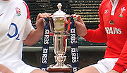 Martin Corry left and Gareth Thomas. Hands on the Six nations Trophy, at the launch of the 2006 RBS Six Nations Rugby competition Press Conference,  held at the Hurlingham Club, Fulham. London ENGLAND,  on 25.01.2006   © Peter Spurrier/Intersport Images - email images@intersport-images.   [Mandatory Credit, Peter Spurier/ Intersport Images].