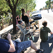 Armory Park spectators provide a rousing welcome to 2015 Tour de Tucson finishers. Bike-tography by Martha Retallick.