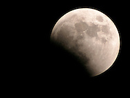 A view of the lunar eclipse from Middletown, N.Y., on Oct. 27, 2004.