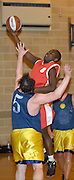 Thursday 26th April, 2007. Barking and Dagenham Erkenwald's Martin Overare lays the ball up against Lakers in the 2007 EMBL Play-Off semi final. Erkenwald won the game 90 - 69.