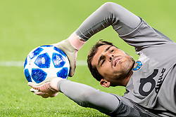 goalkeeper Iker Casillas of FC Porto DFL REGULATIONS PROHIBIT ANY USE OF PHOTOGRAPHS AS IMAGE SEQUENCES AND/OR QUASI-VIDEO. during the UEFA Champions League group D match between Schalke 04 and FC Porto at the Arena auf Schalke on September 18, 2018 in Gelschenkirchen, Germany