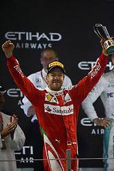Rennen des Grand Prix von Abu Dhabi auf dem Yas Marina Circuit / 271116<br /> <br /> ***Abu Dhabi Formula One Grand Prix on November 27th, 2016 in Abu Dhabi, United Arab Emirates - Racing Day *** <br /> <br /> 3rd place Sebastian Vettel (GER) Scuderia Ferrari SF16-H.<br /> 27.11.2016. Formula 1 World Championship, Rd 21, Abu Dhabi Grand Prix, Yas Marina Circuit, Abu Dhabi, Race Day.<br /> -