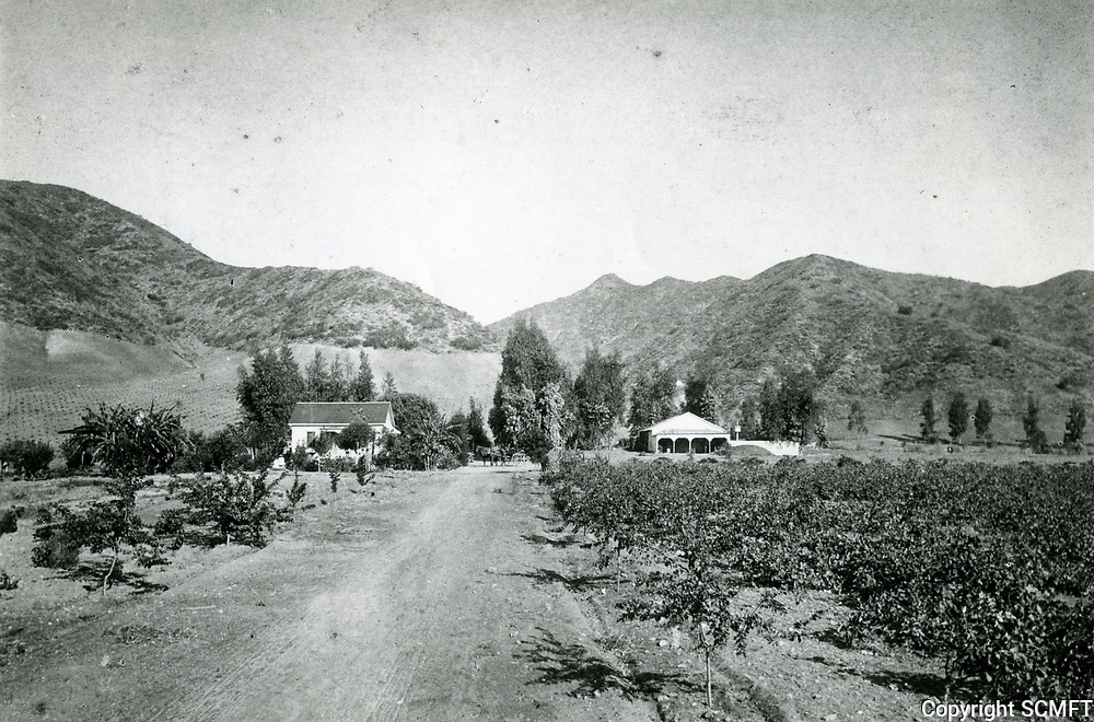 1884 Jacob Miller residence at the mouth of Nichols Canyon