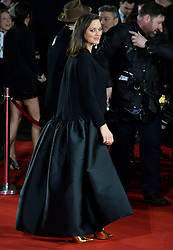 © Licensed to London News Pictures. 21/11/2016. London, UK. MARION COTILLARD arrives at the Allied UK film premiere at Odeon Leicester Square, London. The film follows two assassins who fall in love during a mission to kill a Nazi official during World War II. Photo credit: Ray Tang/LNP