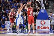 DESCRIZIONE : Eurolega Euroleague 2015/16 Group D Dinamo Banco di Sardegna Sassari - Brose Basket Bamberg<br /> GIOCATORE : Janis Strelnieks<br /> CATEGORIA : Tiro Tre Punti Three Point Controcampo<br /> SQUADRA : Brose Basket Bamberg<br /> EVENTO : Eurolega Euroleague 2015/2016<br /> GARA : Dinamo Banco di Sardegna Sassari - Brose Basket Bamberg<br /> DATA : 13/11/2015<br /> SPORT : Pallacanestro <br /> AUTORE : Agenzia Ciamillo-Castoria/L.Canu