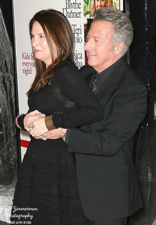 15 December 2010 - New York, NY -  Dustin Hoffman and Lisa Gottsegen.  The world premiere of 'Little Fockers' at Ziegfeld Theatre on December 15, 2010 in New York City. Photo Credit: Paul Zimmerman/AdMedia
