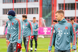 14.03.2019, Säbener Strasse, Muenchen, GER, 1. FBL, FC Bayern Muenchen vs 1. FSV Mainz 05, Training, im Bild v.l. Thomas Müller (FC Bayern), Joshua Kimmich (FC Bayern) // during a trainings session before the German Bundesliga 26th round match between FC Bayern Muenchen and 1. FSV Mainz 05 at the Säbener Strasse in Muenchen, Germany on 2019/03/14. EXPA Pictures © 2019, PhotoCredit: EXPA/ Lukas Huter