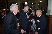 MICA ERTEGUN; SIR JOHN RICHARDSON, The London Library Annual  Life in Literature Award 2013 sponsored by Heywood Hill. The London Library Annual Literary dinner. London Library. St. james's Sq. London. 16 May 2013.