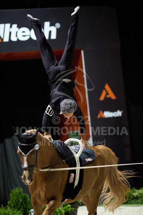 Nicolas Andreani, (FRA), Just A Kiss HN, Marina Joosten Dupon - Individuals Men Freestyle Vaulting - Alltech FEI World Equestrian Games™ 2014 - Normandy, France.<br /> © Hippo Foto Team - Jon Stroud<br /> 03/09/2014