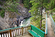 Takhanne Falls at the Million Dollar Falls Campground along the Haines Highway, Yukon Territory, Canada.