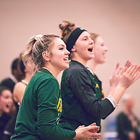 1st year guard, Madeleine Tell (15) of the Regina Cougars during the Women's Basketball Home Game on Sat Feb 02 at Centre for Kinesiology,Health and Sport. Credit: Arthur Ward/Arthur Images