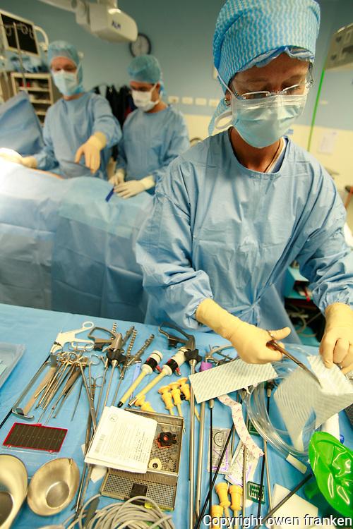 during robotic prostate surgery..Hospital St. Joseph, Paris..Photograph by Owen Franken