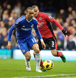 15.01.2011, Stamford Bridge, London, ENG, PL, Chelsea vs Blackburn Rovers Chelsea's Jose Bosingwa is shadowed by Blackburn Rover's Martin Olsson, English Premier League, Stamford Bridge, Chelsea v Blackburn Rovers, 15/01/2011, EXPA Pictures © 2010, PhotoCredit: EXPA/ IPS/ M. Greenwood *** ATTENTION *** UK AND FRANCE OUT!