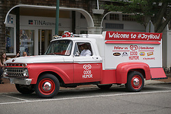 old fashioned ice cream truck in East Hampton, NY