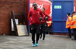 Liverpool's Sadio Mane arrives prior to the Premier League match at Selhurst Park, London.