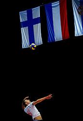 22-09-2013 VOLLEYBAL: EK MANNEN NEDERLAND - SLOVENIE: HERNING<br /> Nederland wint met 3-1 van Slovenie en plaatst zich voor de volgende ronde / Robin Overbeeke<br /> ©2013-FotoHoogendoorn.nl<br />  / SPORTIDA