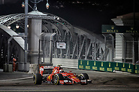 RAIKKONEN Kimi (fin) ferrari sf15t action during the 2015 Formula One World Championship, Singapore Grand Prix from September 16th to 20th 2015 in Singapour. Photo Francois Flamand / DPPI