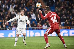 January 24, 2019 - Madrid, Spain - Lucas Vazquez (midfielder; Real Madrid) in action during Copa del Rey, Quarter Final match between Real Madrid and Girona FC at Santiago Bernabeu Stadium on January 24, 2019 in Madrid, Spain (Credit Image: © Jack Abuin/ZUMA Wire)