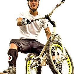 Juan rides his Bike trails.