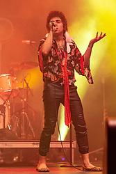 July 1, 2018 - Milwaukee, Wisconsin, U.S - JOSH KISZKA of Greta Van Fleet during Summerfest Music Festival at Henry Maier Festival Park in Milwaukee, Wisconsin (Credit Image: © Daniel DeSlover via ZUMA Wire)