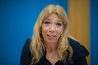 DEU, Deutschland, Germany, Berlin, 26.02.2021: Die Tübinger Notärztin Dr. Lisa Federle in der Bundespressekonferenz zur Corona-Lage im Lockdown.