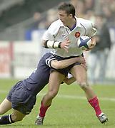 Saint-Denis, Paris, France, 23rd February 2003,  Six Nations Rugby International, France vs Scotland, Stade de France,<br /> [Mandatory Credit: Peter Spurrier/Intersport Images],<br /> Photo Peter Spurrier<br /> 23/02/2003<br /> Sport - Rugby - Six Nations Championships: France v Scotland<br /> Xavier Garbalosa.