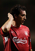 Photo: Jed Wee.<br />Liverpool v Birmingham City. Barclays Premiership. 01/02/2006.<br />Liverpool's Robbie Fowler's return is far from ideal.