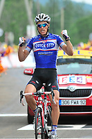 CYCLING - TOUR DE FRANCE 2010 - LES ROUSSES (FRA) - 10/07/2010 - PHOTO : VINCENT CURUTCHET / DPPI - <br /> STAGE 7 - TOURNUS > STATION DES ROUSSES - SYLVAIN CHAVANEL (FRA) / QUICK STEP / WINNER