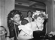 Neil Mendoza and Mary Ann Sieghart.  Piers Gaveston Ball. Park Lane Hotel London. 13 May 2001. © Copyright Photograph by Dafydd Jones 66 Stockwell Park Rd. London SW9 0DA Tel 020 7733 0108 www.dafjones.com