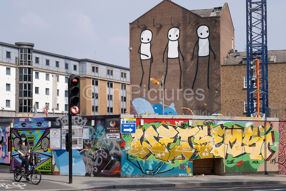 As Britain enters a period of deep recession, the streets around Old Street remain incredibly quiet with very few people out and about as the economic downturn caused by the Covid-19 pandemic cuts hard on the high street on 12th August 2020 in London, United Kingdom. The Office for National Statistics / ONS has announced that gross domestic product / GDP, the widest gauge of economic health, fell by 20.4% in the second quarter of the year, compared with the previous quarter. This is the biggest decline since records began. The result is that Britain has officially entered recession, as the UK economy shrank more than any other major economy during the coronavirus outbreak.