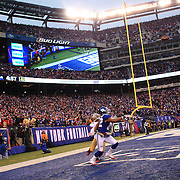 Rueben Randle, New York Giants, can't hold on to a late fourth quarter pass from Eli Manning action during the New York Giants V San Francisco 49ers, NFL American Football match at MetLife Stadium, East Rutherford, NJ, USA. 16th November 2014. Photo Tim Clayton
