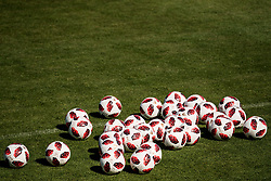 July 4, 2018 - Gelendzhik, Russia - 180704 Footballs prior of the Swedish national football team practice session during the FIFA World Cup on July 4, 2018 in Gelendzhik..Photo: Petter Arvidson / BILDBYRN / kod PA / 92081 (Credit Image: © Petter Arvidson/Bildbyran via ZUMA Press)