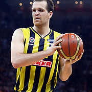Fenerbahce Ulker's Oguz SAVAS during their Turkish Basketball league Play Off Final fourth leg match Galatasaray between Fenerbahce Ulker at the Abdi Ipekci Arena in Istanbul Turkey on Saturday 11 June 2011. Photo by TURKPIX
