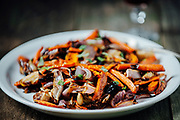 roasted carrot fennel salad