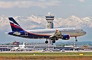 Aeroflot Airbus A320 Photographed at Malpensa airport, Milan, Italy