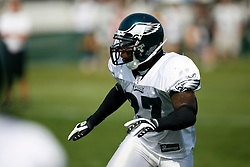 Philadelphia Eagles safety Quintin Mikell #27 during the Philadelphia Eagles NFL training camp in Bethlehem, Pennsylvania at Lehigh University on Saturday August 8th 2009. (Photo by Brian Garfinkel)