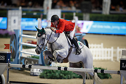 Lambre Santiago, (MEX), Johnny Boy, FEI President<br /> Logines Challenge Cup<br /> Furusiyya FEI Nations Cup Jumping Final - Barcelona 2015<br /> © Dirk Caremans<br /> 25/09/15