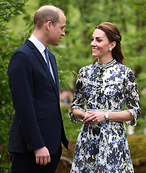 May 20, 2019 - London, London, United Kingdom - Image licensed to i-Images Picture Agency. 20/05/2019. London, United Kingdom. The Duke and Duchess of Cambridge at the Chelsea Flower Show in London. (Credit Image: © Pool/i-Images via ZUMA Press)
