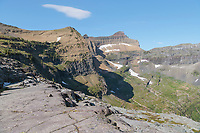 View of Hole in the Wall from Boulder pass. Glacier National Park Montana