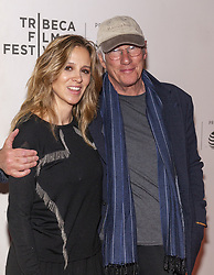 May 3, 2019 - New York, New York, United States - Alejandra Silva and Richard Gere attends screening of It Takes a Lunatic during Tribeca Film Festival at Stella Artois Theatre at BMCC TPAC (Credit Image: © Lev Radin/Pacific Press via ZUMA Wire)